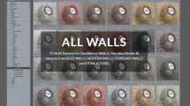 مجموعه 75 تکسچر دیوار و کف All Walls Textures