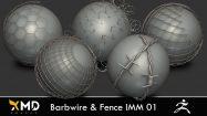 مجموعه براش سیم خاردار و فنس Barbwire & Fence