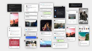 پروژه افترافکت مجموعه پست شبکه اجتماعی Animated Social Media Posts