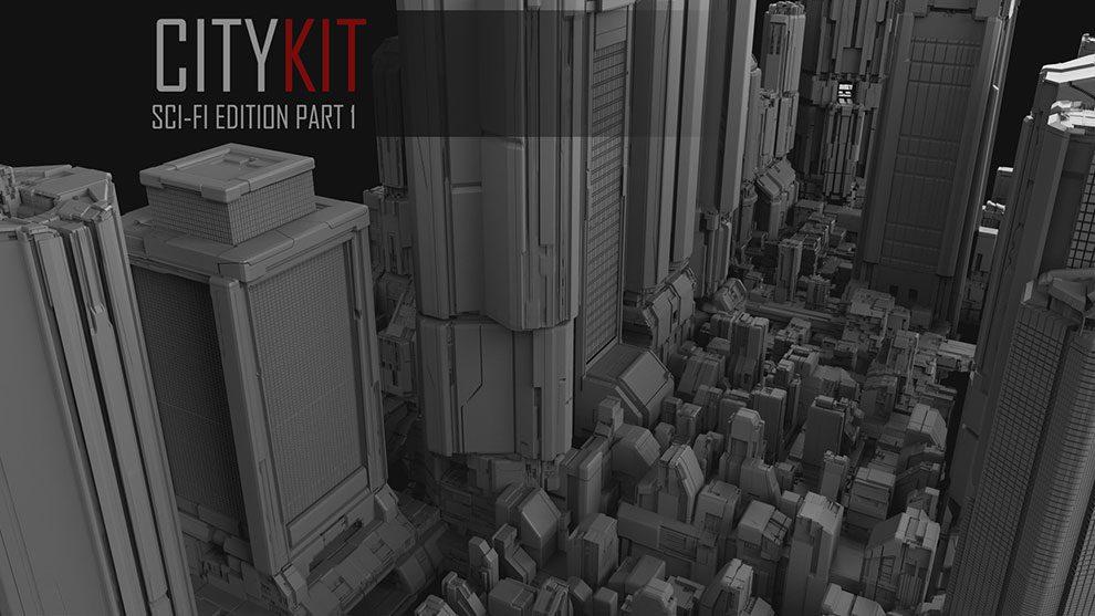 مجموعه مدل سه بعدی ساختمان CityKit Sci-Fi Edition Vol.1