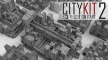 مجموعه مدل سه بعدی ساختمان CityKit Sci-Fi Edition Vol.2