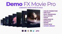 پروژه افترافکت مجموعه افکت برای فیلم Demo FX Movie Pro