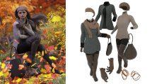 مجموعه مدل سه بعدی لباس پاییزی زنانه برای Daz3D Genesis 8