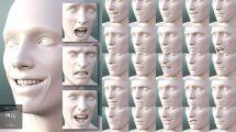 مجموعه پریست حالات صورت Genesis 8 Male Expressions