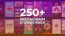 پروژه افترافکت مجموعه استوری اینستاگرام Instagram Summer Stories