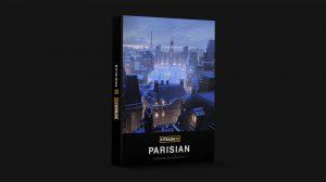 مجموعه مدل سه بعدی اجزای شهری به سبک پاریسی Kitbash3D Parisian