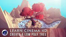 دوره آموزشی مدلسازی Low Poly درخت در سینمافوردی