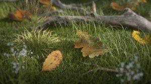 مجموعه متریال برگ درخت برای اکتان