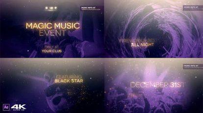 پروژه افترافکت افتتاحیه کنسرت موزیک Magic Music Event