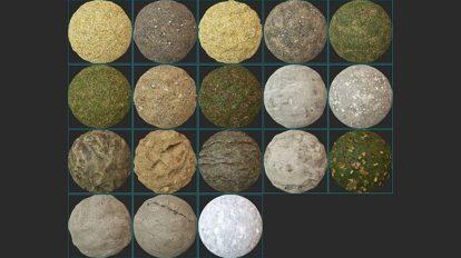 مجموعه تکسچر سطح زمین Quixel Megascans Surfaces 01