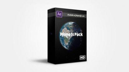 پروژه افترافکت سیارات واقعگرایانه Realistic Planets Pack