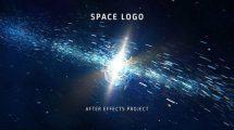 پروژه افترافکت نمایش لوگو در فضا Space Logo