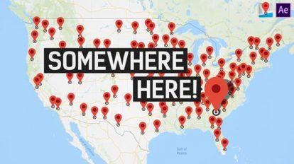 پروژه افترافکت جعبه ابزار ساخت موشن گرافیک نقشه