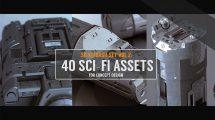 مجموعه مدل سه بعدی تجهیزات پیشرفته 3D Kitbash Set Vol.2 Sci-Fi Assets