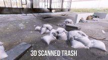 مدل سه بعدی اسکن شده کیسه آشغال 3D Scanned Trash