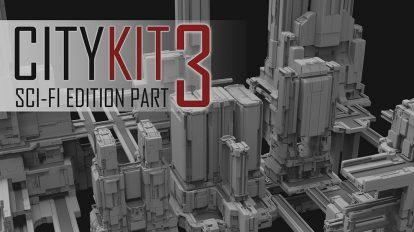 مجموعه مدل سه بعدی ساختمان CityKit Sci-Fi Edition Vol.3
