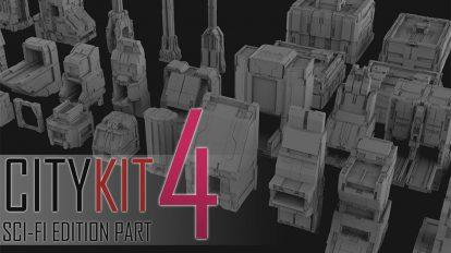 مجموعه مدل سه بعدی ساختمان CityKit Sci-Fi Edition Vol.4