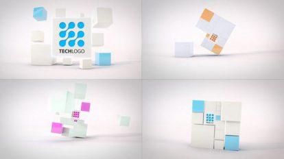 پروژه افترافکت نمایش لوگو با مکعب Clean Dynamic Cubes Logo Reveals