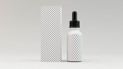مدل سه بعدی بطری قطره چکان Dropper Bottle 01