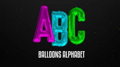 پروژه افترافکت حروف الفبای بادکنکی Foil Balloons Alphabet
