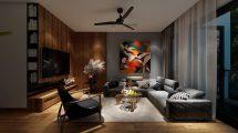 صحنه آماده سه بعدی محیط داخلی خانه Full House Design 1