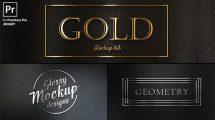 پروژه پریمیر نمایش عناوین طلایی Gold Titles Kit