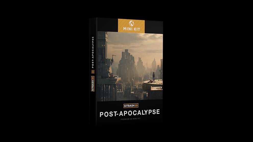 مجموعه مدل سه بعدی ساختمان های تخریب شده Kitbash3D Post Apocalyptic Mini Kit