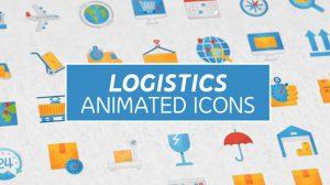 پروژه افترافکت مجموعه انیمیشن آیکون حمل و نقل Logistics & Transportation Animated Icons
