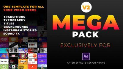 پروژه افترافکت مجموعه موشن گرافیک Mega Graphics Pack