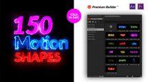 پروژه افترافکت مجموعه موشن گرافیک Motion Shapes Pack