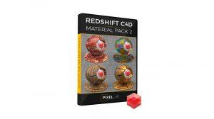 مجموعه متریال ردشیفت برای سینمافوردی Redshift C4D Material Pack 2