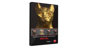 مجموعه متریال فلز برای ردشیفت در سینمافوردی Redshift Mutating Materials Metal