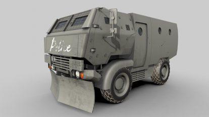 مدل سه بعدی ماشین ضد شورش پلیس Riot Truck 001