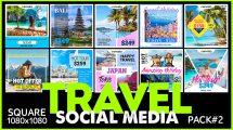 پروژه افترافکت پست شبکه اجتماعی گردشگری Social Media Promo Travel