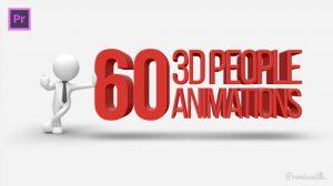 پروژه پریمیر مجموعه انیمیشن آدمک سه بعدی 3D People Animations