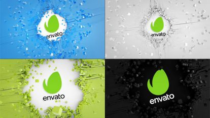 پروژه پریمیر نمایش لوگو با شبکه مکعبی Dynamic Cubes Logo Reveal