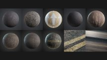 مجموعه جامع تکسچر آسفالت و جاده Friendly Shade Asphalt Textures