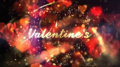 پروژه افترافکت نمایش عناوین عاشقانه Glitter Love Titles