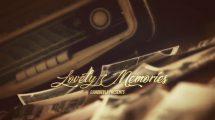 پروژه افترافکت اسلایدشو خاطرات عاشقانه Lovely Memories