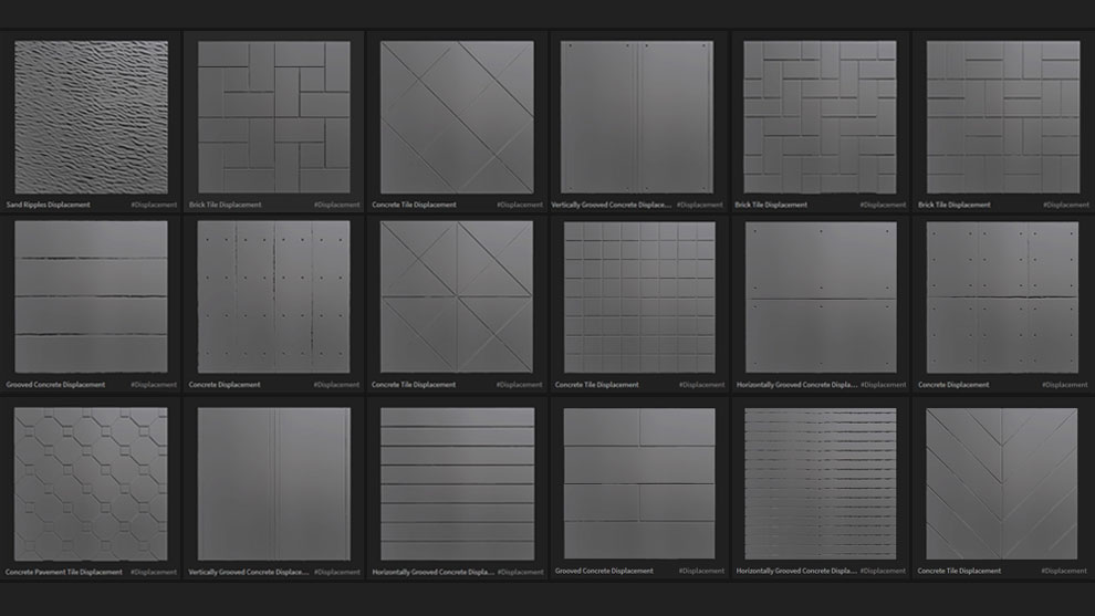 مجموعه تکسچر آماده الگوی برجستگی Megascans Displacements