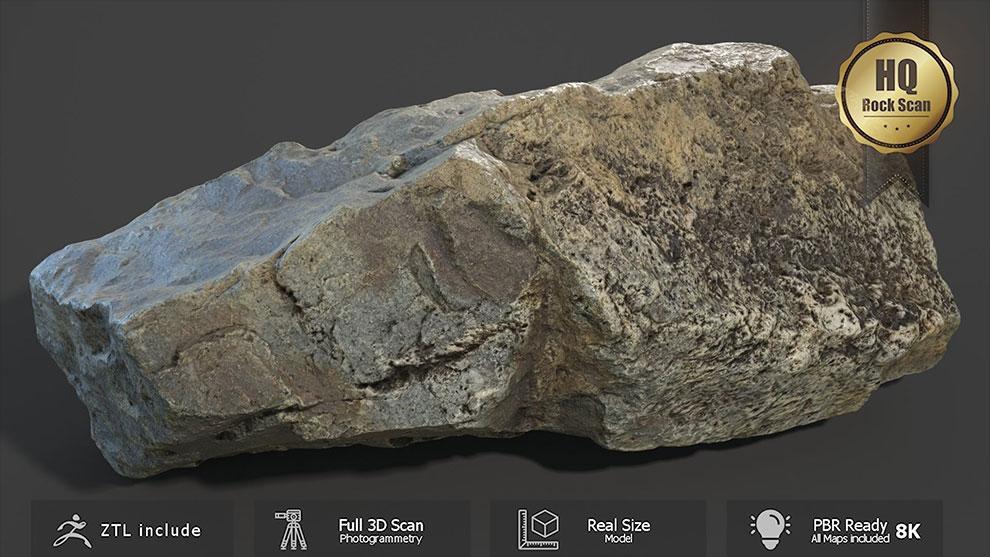مجموعه مدل سه بعدی سنگ Mountain Rock Scan