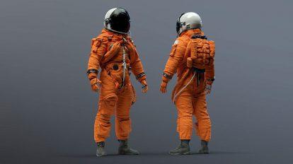 مدل سه بعدی لباس فضایی ناسا NASA ACES Space Suit