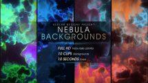 مجموعه ویدیوی موشن گرافیک زمینه متحرک فضا Nebula Backgrounds