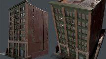 مدل سه بعدی ساختمان قدیمی آمریکایی Old USA Building