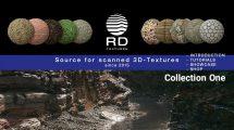 مجموعه تکسچر سنگ و خاک Real Displacement Textures Vol.1