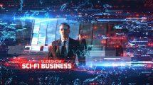 پروژه افترافکت اسلایدشو تجاری Sci-Fi Business Slideshow