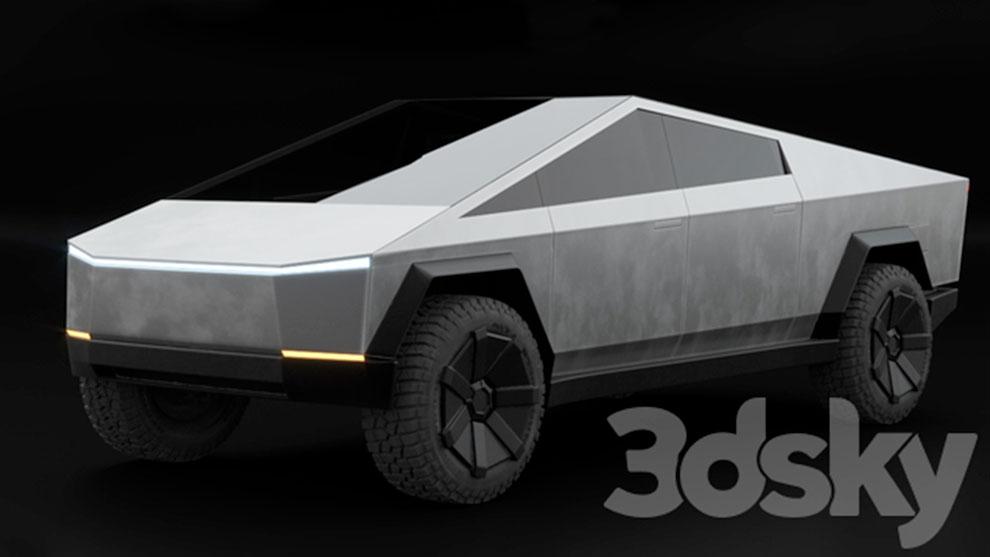 مدل سه بعدی خودرو سایبرتراک تسلا Tesla Cybertruck