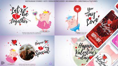 پروژه افترافکت تیزر اینترو ولنتاین Valentine's Day Love Letter