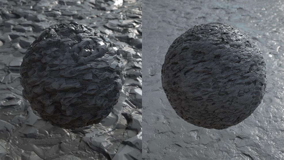 مجموعه جامع تکسچر برجستگی سطوح 4K Displacement Maps