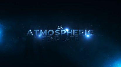 پروژه افترافکت نمایش عناوین سینمایی Atmospheric Particles Titles